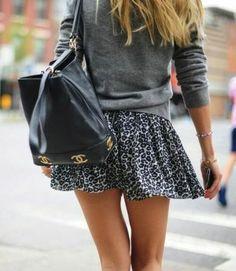 Chanel Bag, Leo-Printed skirt
