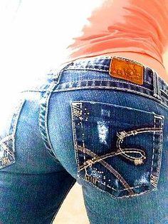 Awesome back pockets!   BKE Women's Stella Boot Cut Stretch Jeans 28 x 32 | eBay