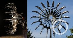 Artist Anthony Howe (previously) continues to amaze with his gargantuan kinetic sculptures powered by wind or motors that cycle continuously through hypnotic motions that resemble something between the tentacles of an octopus and an alien spacecraft. Weighing up to 1,600 lbs (725kg), each artwor