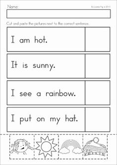 cut and paste activity count cut and paste 1 worksheet preschool worksheets pinterest. Black Bedroom Furniture Sets. Home Design Ideas