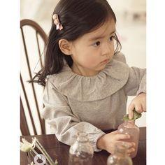 Arim Closet Grey Shirring Top – Greenberry Kids