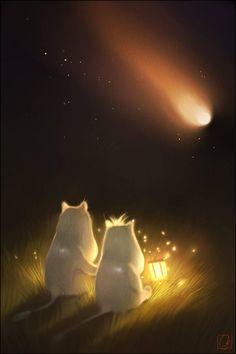 Moomin Troll and Comet by GaudiBuendia on DeviantArt Moomin Cartoon, Moomin Wallpaper, Les Moomins, Estilo Coco Chanel, Moomin Valley, Tove Jansson, Night Aesthetic, Illustrations And Posters, Cat Art