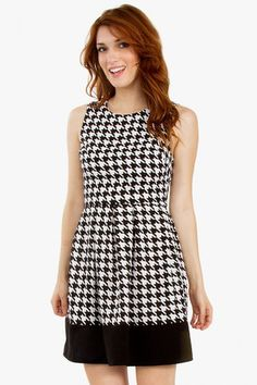 So Mod Houndstooth Dress