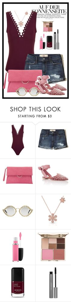 """""""Urban chic"""" by tina-pencinger ❤ liked on Polyvore featuring Karla Colletto, Hollister Co., Mint Velvet, Aquazzura, Gucci, Anne Sisteron, MAC Cosmetics and Stila"""