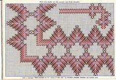 Bordado,culinária e dicas em geral! Swedish Embroidery, Geometric Embroidery, Embroidery Designs, Cross Stitch Bookmarks, Counted Cross Stitch Patterns, Cross Stitch Embroidery, Broderie Bargello, Swedish Weaving Patterns, Monks Cloth