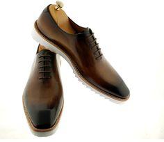 Luxury Classic Sneakers (Ronnie) Handmade Oxford For Men - Oscar William Luxury Elegant Handmade Classic Footwear Italian Calfskin Leather - Men Luxury Handcrafted Footwear Oscar William Official Site