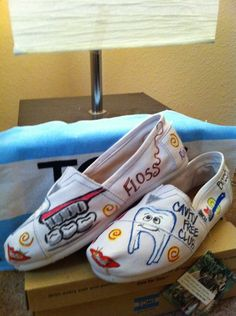 Custom Toms Shoes. $95.00, via Etsy. - DENTAL ASSISTING TOMS! I'm in love <3