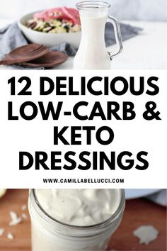 It can be tough to find a healthy and delicious dressing. A good dressing makes a dry salad taste that much tastier. These amazing recipes don't just taste better than any storebought dressing and only takes a few minutes to make, they also are keto friendly. Click to check out 12 Low-Carb & Keto Dressings | #keto #ketorecipes #dressingrecipes #ketodiet #ketogenic #healthyrecipes #lowcarb | www.CamillaBellucci.com |