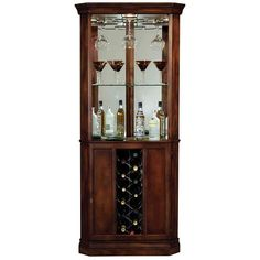 Howard Miller Piedmont Rustic Cherry Corner Bar Cabinet - #R7963   Lamps Plus