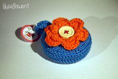 Crochet flower tape measure di Likeaflowerhandmade su Etsy
