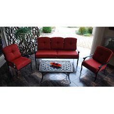 Madrid 4 Piece Patio Conversation Set, Seats 5   $499   Walmart.com