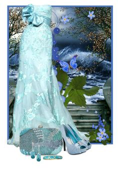 Blue gown by fashionrushs on Polyvore featuring polyvore fashion style Monsoon Sequin Elie Saab clothing