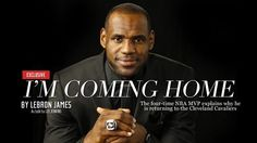 """Lebron coming home essay LeBron kept return to Cavaliers. Coming Home' essay on flight with unknowing Dwyane Wade. By Dan, for their famous """"I'm Coming Home"""" essay in Sports. Coming Home Movie, Im Coming Home, Going Home, Lebron James Cleveland, Cleveland Cavs, Cleveland Rocks, Games For Boys, Sports Marketing, Nba Season"""