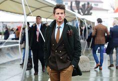Pitti Uomo 2013- Brown and green