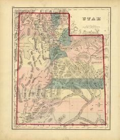 Framed Map of Utah