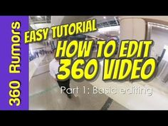 Here is a very easy tutorial for editing a 360 video, even if you've never edited a video before or otherwise). By the time you complete Part 1 and Part. Vr Camera, Humor, Easy, Youtube, Movies, Cameras, Films, Humour, Camera