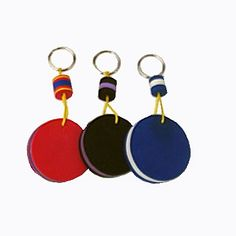 key-rings made from recycled flip-flops. made to your specifications. great eco gifts for business