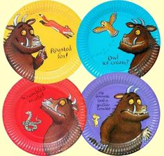 the gruffalo party paper plates Baby Boy First Birthday, Third Birthday, 3rd Birthday Parties, Birthday Ideas, Gruffalo Party, The Gruffalo, Party Plates, Woodland Party, Party Shop