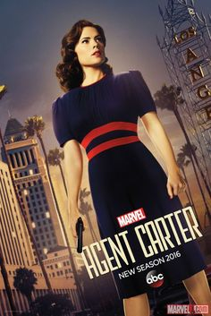 """""""I know my value."""" Agent Peggy Carter Stands Tall in this Exclusive Poster (Season 1: 2014-15, Season 2: 2015-16)"""