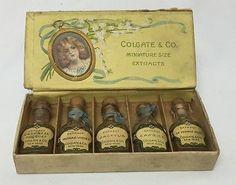 Antique Colgate & Co Miniature Perfume Extraits Set