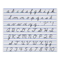 Shop English Alphabet Diagram in Cursive Handwriting Poster created by chartsanddiagrams. Improve Your Handwriting, Handwriting Alphabet, Improve Handwriting, Nice Handwriting, Handwriting Worksheets, English Handwriting Styles, English Cursive Writing, Script Writing, Calligraphy Handwriting