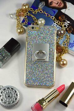 Finger Ring Holder Real GLITTER Holographic Sparkle Luxury Bling Case iPhone  #UnbrandedGeneric