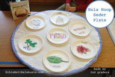 Hula Hoop Seder Plate: Upcycle For Kids (scrap art, collage, or drawing)