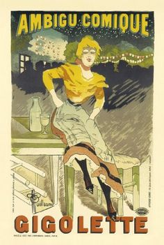 VERY STYLISH A4 GLOSSY PRINT - 'GIGOLETTE' (A4 PRINTS - VINTAGE FRENCH ADVERTISING POSTERS) by Unknown http://www.amazon.co.uk/dp/B0049G1FPA/ref=cm_sw_r_pi_dp_5B6mvb12K3G8B