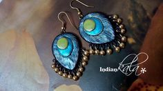 Black Peacock Feather earring