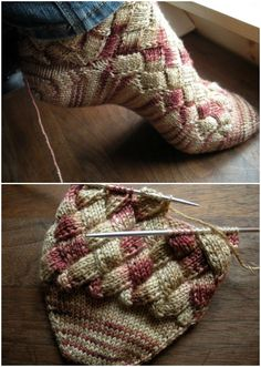 Entrelac Socks Tutorial Free Pattern Easy Video Tutorial You Will Love Making These Knitted Entrelac Socks. Knitted Socks Free Pattern, Crochet Socks, Knitting Patterns Free, Free Knitting, Knit Socks, Knitting Stiches, Knitting Socks, Drops Design, Patterned Socks