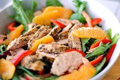 Eat Yourself Skinny » Grilled Honey-Orange Chicken Salad