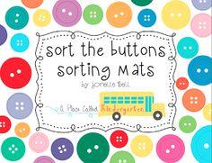A Place Called Kindergarten: sorting buttons Math 8, Preschool Math, Kindergarten Classroom, Teaching Math, Starting Kindergarten, Teaching Ideas, Classroom Ideas, Math Stations, Math Centers