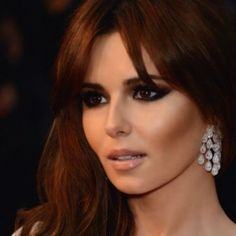 Cheryl Cole, hair and makeup. Love this contour and smokey eyes!!