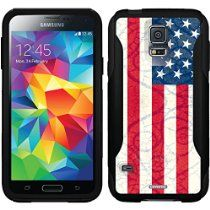 Vintage Flag of USA design on a Black OtterBox Commuter Series Case for Samsung Galaxy S5 //  Description This Otterbox Commuter Series case is compatible with the Samsung Galaxy S5. The design is printed using our HighColor process. Not a sticker or skin