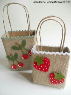 (notitle) - hand made gifts - Kids Crafts, Easter Crafts, Diy And Crafts, Arts And Crafts, Paper Gift Bags, Paper Gifts, Decorated Gift Bags, Burlap Crafts, Jute Bags