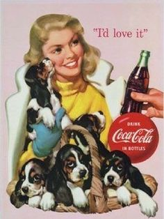 Coca~Cola vintage advertising.