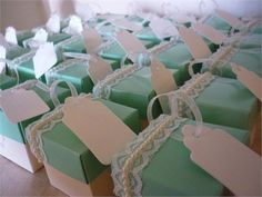 Lace & Pearl Decorated Favours from Dream Favours