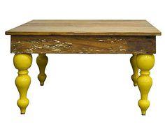 Mesa de centro belle forms - amarela