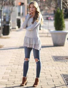 Ruffle Up Winter Tunic Top from Cousin Couture.