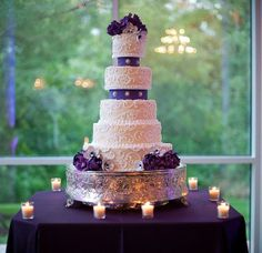 teal and purple wedding cakes - Google Search