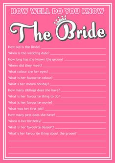 Fantastic free download from http://www.partyinvitationsuk.co.uk/blog/free-hen-party-quiz-game/ #weddings #hendo #hennight #henpartyideas
