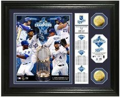 "Kansas City Royals ""Banner"" Gold Coin Photo Mint - 2015 World Series Champions"
