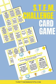 Looking for fun and educational things to keep the kids engaged and learning this summer? Take these free STEM challenge cards now and use them to do various hands on projects to keep kids occupied and learning.  #fun #printables #STEM #elementary #summerfun #parenting #science #technology #crafts Stem Learning, Kids Learning, Make A Lava Lamp, Solar System Projects, Challenge Cards, Harry Potter Potions, Math Stem, Stem Challenges, Water Balloons