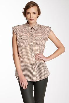 Hi-Lo Button Tab Campshirt on HauteLook