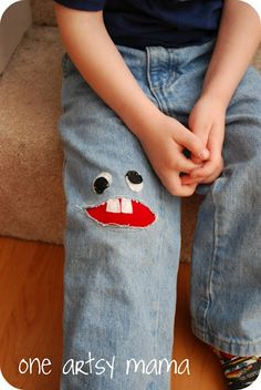 Monster patch for ripped jeans!