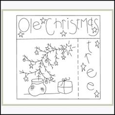Download Ole Christmas Tree - Embroidery Sewing Pattern   Stitchery   YouCanMakeThis.com