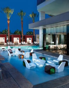 Awesome pool lounge at The Palms Place: Vegas
