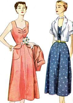 Vintage Sewing Pattern 1950s Simplicity 3224 Dress by paneenjerez, $18.00