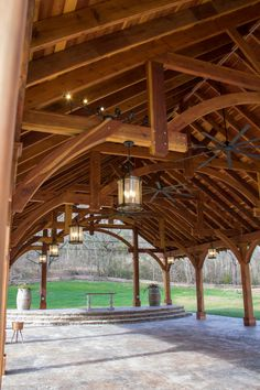 "The Cardinals Nest Pavilions (Options: 60' L x 34' W, Redwood with a 15-year warranty, 16-Post Anchor Kit for Hurricane Anchors will be at least 24"" x 24"" x 36"", Electrical Wiring Trim Kit for 6 Posts, and 6 Cutouts for Outlets, 2 Ceiling Fan Bases and at least 4 cutouts for Electrical Boxes, Transparent Premium Sealant), Photo Courtesy of S. Hilton of Sevierville, TN."