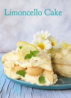 Limoncello Cake Recipe or Lemon Tiramisu Lemon Desserts, Lemon Recipes, Just Desserts, Delicious Desserts, Dessert Recipes, Sweets Recipe, Lemon Cakes, Cheesecake Recipes, Dessert Ideas